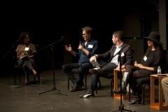 Toyin and 3 panelists
