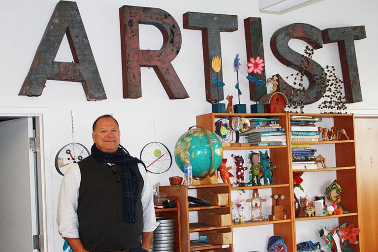 CEO Bob Smiland in Inner-City Arts Studio