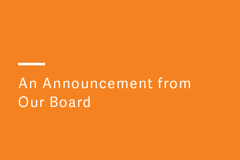 CEO Announcement